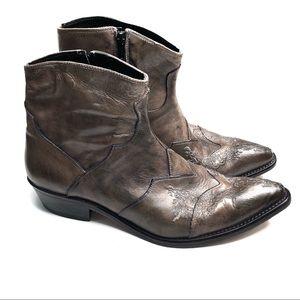 True Religion Brown Vero Cuoio Ankle Boots